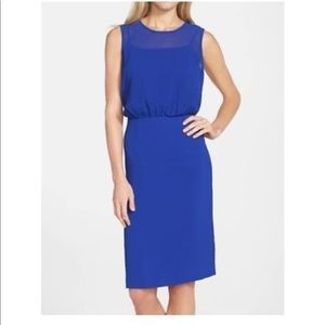 NWT Marc New York 4 blouson chiffon bodice dress